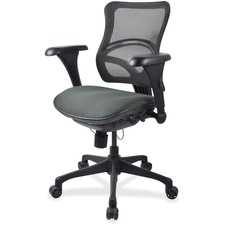 LLR2097832 - Lorell Mesh Midback Task Chair with Custom Fabric Seat