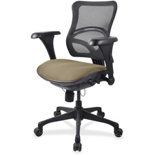 LLR2097833 - Lorell Mesh Midback Task Chair with Custom Fabric Seat