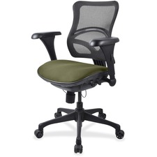 LLR2097834 - Lorell Mesh Midback Task Chair with Custom Fabric Seat