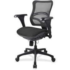 LLR2097835 - Lorell Mesh Midback Task Chair with Custom Fabric Seat