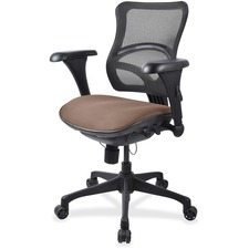 LLR2097836 - Lorell Mesh Midback Task Chair with Custom Fabric Seat
