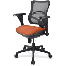 LLR2097837 - Lorell Mesh Midback Task Chair with Custom Fabric Seat