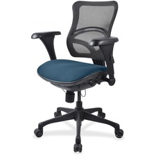 LLR2097838 - Lorell Mesh Midback Task Chair with Custom Fabric Seat