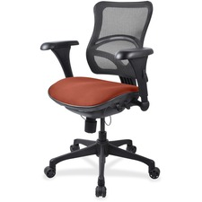 LLR2097839 - Lorell Mesh Midback Task Chair with Custom Fabric Seat