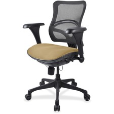 LLR2097840 - Lorell Mesh Midback Task Chair with Custom Fabric Seat
