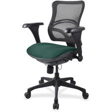 LLR2097842 - Lorell Mesh Midback Task Chair with Custom Fabric Seat