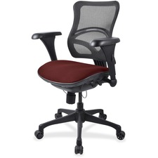 LLR2097844 - Lorell Mesh Midback Task Chair with Custom Fabric Seat