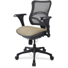 LLR2097845 - Lorell Mesh Midback Task Chair with Custom Fabric Seat