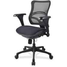 LLR2097846 - Lorell Mesh Midback Task Chair with Custom Fabric Seat