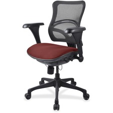 LLR2097847 - Lorell Mesh Midback Task Chair with Custom Fabric Seat