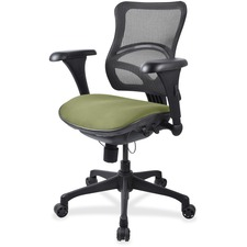 LLR2097848 - Lorell Mesh Midback Task Chair with Custom Fabric Seat