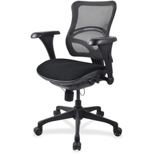 LLR2097849 - Lorell Mesh Midback Task Chair with Custom Fabric Seat