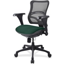 LLR2097850 - Lorell Mesh Midback Task Chair with Custom Fabric Seat