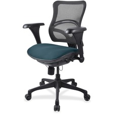 LLR2097859 - Lorell Mesh Midback Task Chair with Custom Fabric Seat