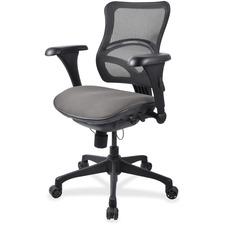 LLR2097860 - Lorell Mesh Midback Task Chair with Custom Fabric Seat