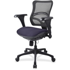 LLR2097861 - Lorell Mesh Midback Task Chair with Custom Fabric Seat