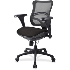 LLR2097863 - Lorell Mesh Midback Task Chair with Custom Fabric Seat