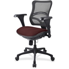 LLR2097864 - Lorell Mesh Midback Task Chair with Custom Fabric Seat