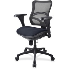 LLR2097866 - Lorell Mesh Midback Task Chair with Custom Fabric Seat