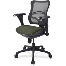 LLR2097867 - Lorell Mesh Midback Task Chair with Custom Fabric Seat