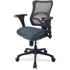 LLR2097884 - Lorell Mesh Midback Task Chair with Custom Fabric Seat