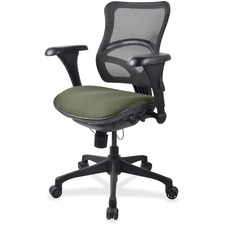 LLR2097885 - Lorell Mesh Midback Task Chair with Custom Fabric Seat