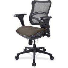 LLR2097886 - Lorell Mesh Midback Task Chair with Custom Fabric Seat