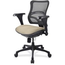 LLR2097887 - Lorell Mesh Midback Task Chair with Custom Fabric Seat