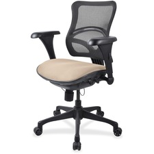 LLR2097889 - Lorell Mesh Midback Task Chair with Custom Fabric Seat