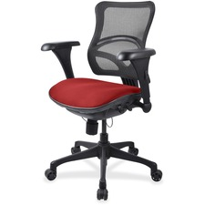 LLR2097895 - Lorell Mesh Midback Task Chair with Custom Fabric Seat