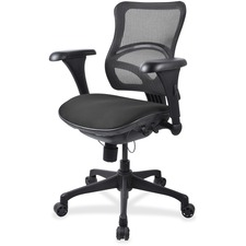 LLR2097896 - Lorell Mesh Midback Task Chair with Custom Fabric Seat