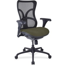 LLR2097927 - Lorell Mesh Midback Task Chair with Custom Fabric Seat