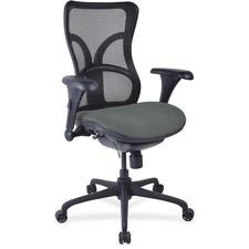 LLR2097932 - Lorell Mesh Midback Task Chair with Custom Fabric Seat