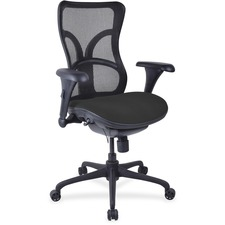 LLR2097935 - Lorell Mesh Midback Task Chair with Custom Fabric Seat