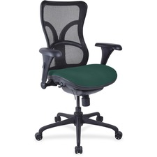 LLR2097942 - Lorell Mesh Midback Task Chair with Custom Fabric Seat