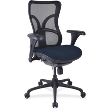LLR2097943 - Lorell Mesh Midback Task Chair with Custom Fabric Seat