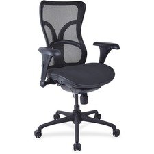 LLR2097946 - Lorell Mesh Midback Task Chair with Custom Fabric Seat