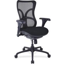 LLR2097949 - Lorell Mesh Midback Task Chair with Custom Fabric Seat