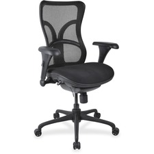 LLR2097964 - Lorell Mesh Midback Task Chair with Custom Fabric Seat