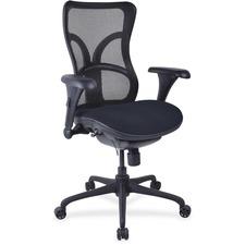 LLR2097966 - Lorell Mesh Midback Task Chair with Custom Fabric Seat