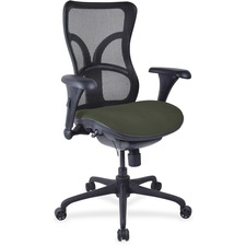 LLR2097967 - Lorell Mesh Midback Task Chair with Custom Fabric Seat
