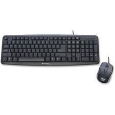 VER 99202 Verbatim Slimline Corded USB Keyboard/Mouse VER99202