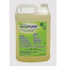 Ecopure EP91 Pot/Pan Liquid Detergent - Liquid - 135.3 fl oz (4.2 quart) - 1 Each - Yellow