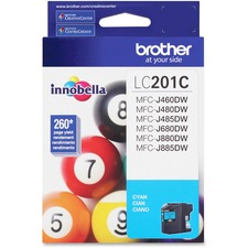 Brother Innobella LC201 Original Ink Cartridge - Cyan - Inkjet - Standard Yield - 260 Pages - 1 Each