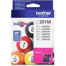 Brother Innobella LC201 Original Ink Cartridge - Magenta - Inkjet - Standard Yield - 260 Pages - 1 Each