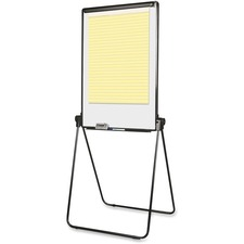 """MasterVision Folds-to-a-table Presentation Easel - 29"""" (2.4 ft) Width x 41"""" (3.4 ft) Height - Black Frame - Rectangle - 1 Each"""