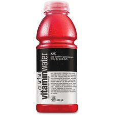 Glaceau VitaminWater xxx Acai/Berry Water Drink - Blueberry, Pomegranate - 566.5 g - 12 / Carton
