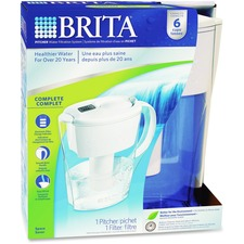 Brita Water Filtration System 6-cup Pitcher - Pitcher - 1 Each - White