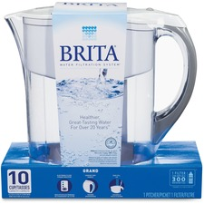Brita Water Filtration System Grand Pitcher - Pitcher - 1 Each - White
