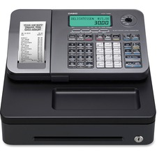 Casio PCRT285L Electronic Cash Register - 2000 PLUs - 12 Departments - Thermal Printing
